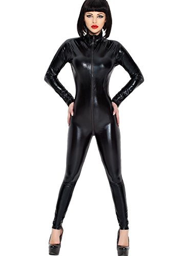DOMINA CATSUIT CATWOMEN BAD GIRL LACK VINYL LATEX LEDER WETLOOK (Catwoman Latex Kostüm)