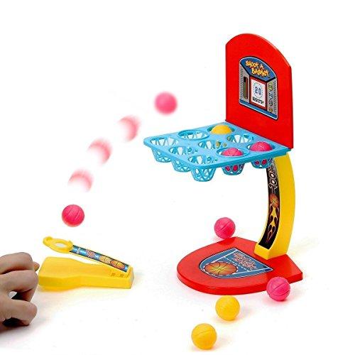 Baby Basketball Spielzeug (FUNTOK Mini Basketball Tisch Schießen Spiel Schießmaschine Korbwurf Spiel Desktop Educational Toy Ausbildung Spielzeug Zusammenspielen Interaktive Spiele)