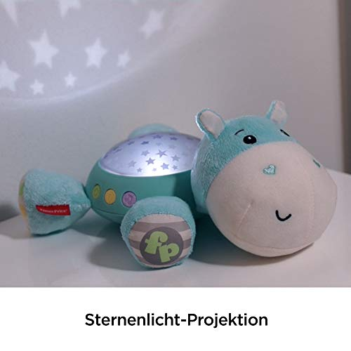 Fisher-Price CGN86 Schlummerlicht Spieluhr Nachtlicht mit Sternenlicht inkl. Melodien und White Noise, ab 0 Monaten, blau - 5