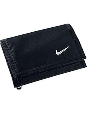 Nike ACC Basic Wallet 09 - Cartera-monedero de tiempo libre y sportwear para hombre, color negro/blanco