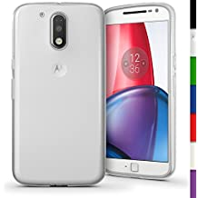 igadgitz Transparente Claro Lustroso Funda Carcasa Gel TPU para Motorola Moto G 4ª Generación XT1622 (Moto G4) & Moto G4 Plus XT1644 Case Cover + Protector Pantalla