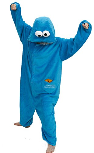 Damen Kostüm Monster - SMITHROAD Jumpsuit Tier Karton Fasching Halloween Kostüm Sleepsuit Cosplay Fleece-Overall Pyjama Schlafanzug Erwachsene Unisex Nachtwäsche  XL