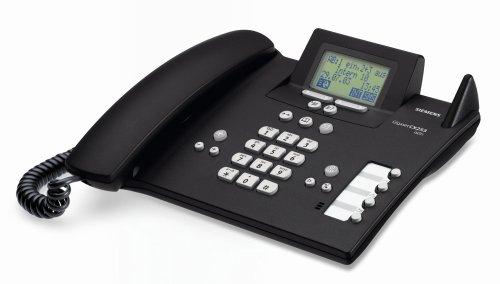 Siemens Gigaset CX253 ISDN, schnurlos erweiterbares ISDN-Komfort Telefon mit integriertem Anrufbeantworter, schwarz