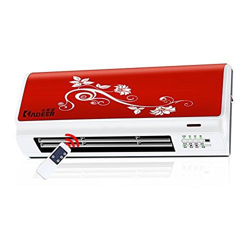 Radiateurs électriques YIXINY NDY-20N Télécommande Tenture Murale Fièvre Céramique PTC 2000W Rouge 52.5 * 12 * 22 Cm