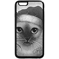 iPhone 6s case, iPhone 6case (Black & White)–Siamese Santa Kitty by Careful what you wish for