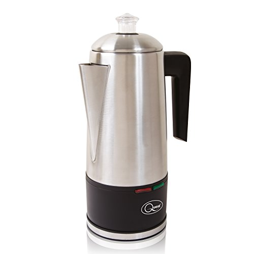 41XPRqHvriL. SS500  - Quest 35200 1.5L Electric Coffee Percolator / Stainless Steel / Integrated Filter / Keep-Warm Function / Instant Coffee…