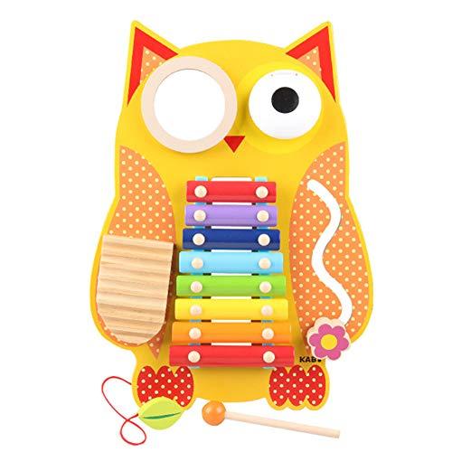 QING.MUSIC Percussion instrument Klopfen am Klavier Kinder 8 Tasten Multifunktionshandklopfen am Klavier Xylophone Toys - Colourful