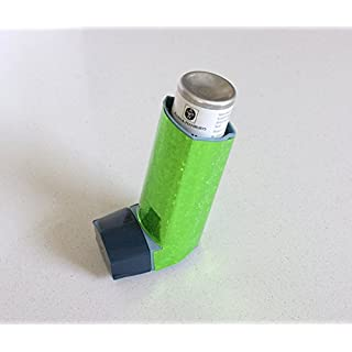ARTISTICKY Funky Holographic SEQUIN GREEN Sticker for Asthma Inhaler (not included)