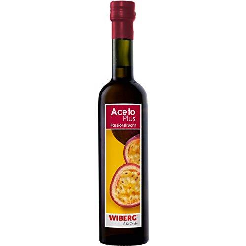 Wiberg AcetoPlus Passionsfrucht- Essig, 1er Pack (1 x 500 ml)