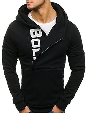 BOLF Felpa – Con cappuccio – Infilabile dalla testa - Con stampa - Stile quotidiano – Da uomo 1A1