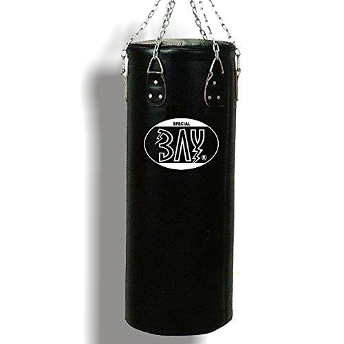 BAY RIESEN GROSSER'130 x 40 cm' Sandsack Boxsack mit Stahlkette, schwarz