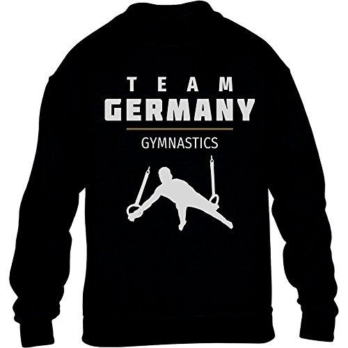 Gymnastics Team Germany - Deutschland Turner Rio Kinder Pullover Sweatshirt S 122/128 Schwarz