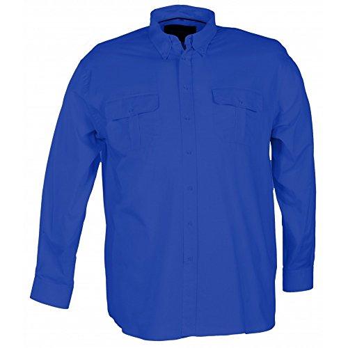 Camicia Maxfort San Carlo taglie forti uomo - Blu scuro, 3XL
