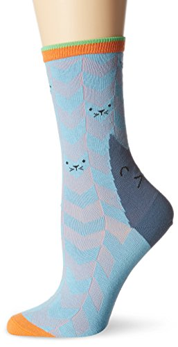 Burlington Damen Socken Catface, Mehrfarbig (Sky Blue 6254), 36/41 (Herstellergröße: 36-41)