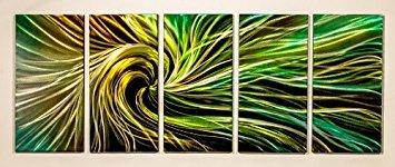 PictureSensations.com Moderne abstrakter Metal Wall Art Decor Skulptur Elektrische Swirl -