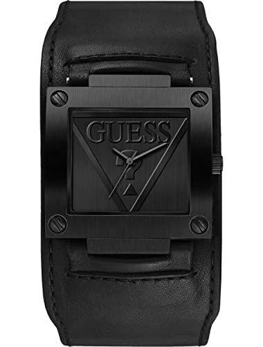 Guess Homme Uhr Analogique Quartz (Pile) mit Cuir Armband W1166G2