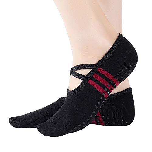 Pilates Yoga Socken Frauen rutschfeste rutschfeste Fitness/Tanz Barre/Ballett/Griff Socken Mit Greifer Baumwolle -