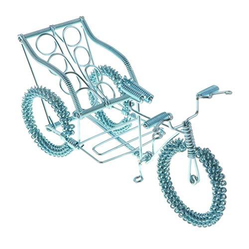 Miniatur Aluminium Druckguss Blume Rad Dreirad Fahrrad Verkehrsmittel Modell Spielzeug Kunsthandwerk - Himmelblau