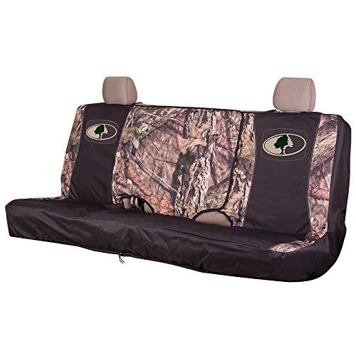 Mossy Oak Camo Sitzbezug für Bank, mittelgroß, mit klappbarem Mittelkonsolenzugang, wasserabweisend, 600D Polyester -