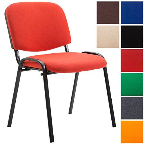 CLP Konferenzstuhl Ken V2 mit Stoffbezug und Hochwertiger Sitzpolsterung I Stapelbarer Besucherstuhl...