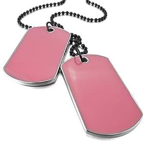 munkimix 2 pi ce alliage mail pendentif collier rose arm e nom double dog tag 27 pouce cha ne. Black Bedroom Furniture Sets. Home Design Ideas