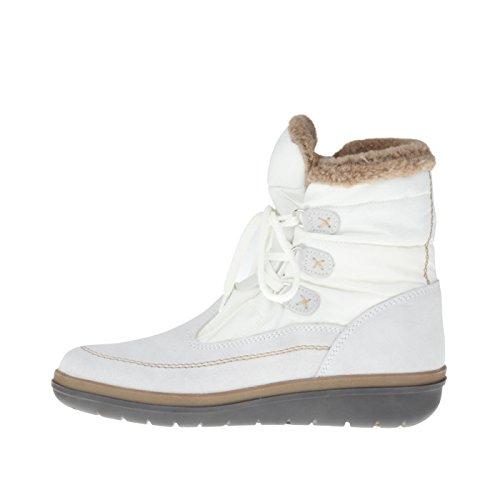 tessamino Damen Stiefelette aus Tex-Membran und echtem Leder, Weite H Weiß