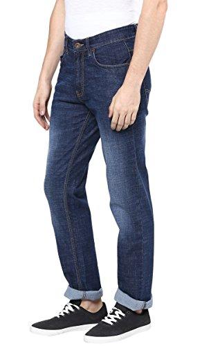 Richlook Männer Regular Fit Lässig Blau Denim Gerade Stretch Hose - Größe verfügbar Blau