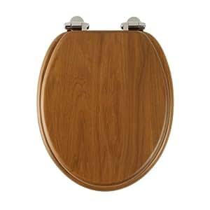 Roper Rhodes Honey Oak Finish Toilet Seat With Soft Close Hinge
