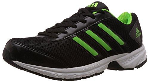 adidas Men's Adisonic M Black and Green Mesh Running Shoes - 10 UK