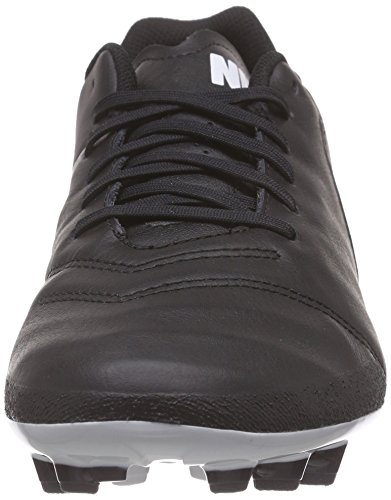 Nike Tiempo Genio Ii Leather Ag-r, Chaussures de foot homme Noir / Blanc / Or (Noir / Blanc-Metallic Gold)