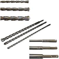 3x SDS PLUS 40cm LANGE STEINBOHRER Ø 10-14-20mm BETONBOHRER HAMMERBOHRER BOHRER