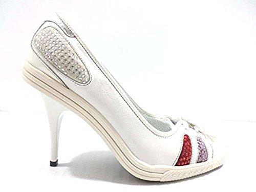 scarpe donna RICHMOND 37 EU decoltè bianco pelle AY988