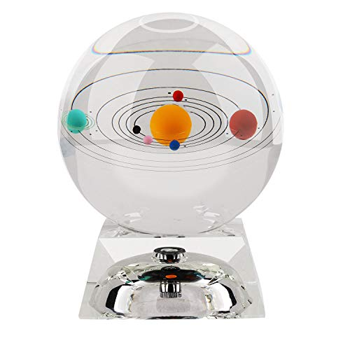 Sistema Solar Crystal Ball 80 mm (3 in) con Crystal LED Base Colorful Cosmic Model