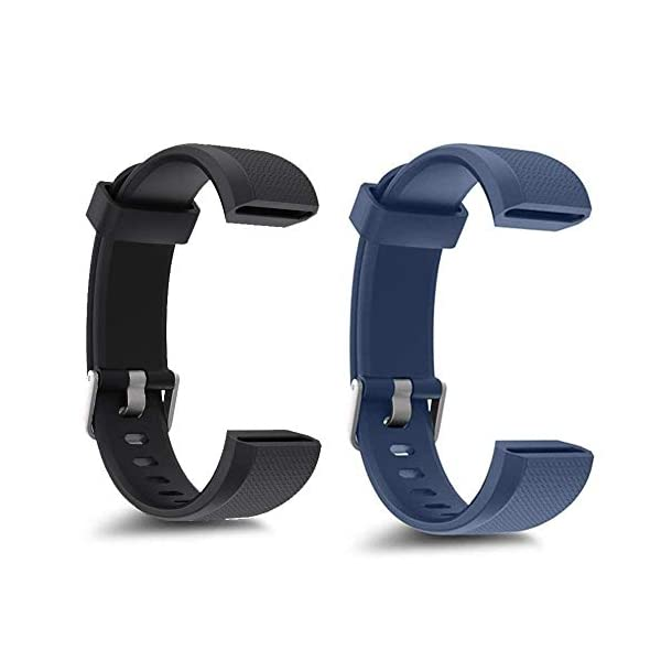 Rayfit Pulseras de Repuesto para Fitness Tracker Correa ID115U / Correa 115U / 115UU Smart Band Correa Repuesto de Reloj Deportivo Inteligente Pulseras Actividad Contador Pasos Calorías Podómetro 5