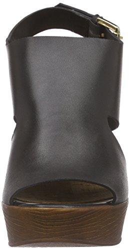 Bullboxer 625029e2l, Sandales à plateforme femme Noir - Schwarz (BLCK)