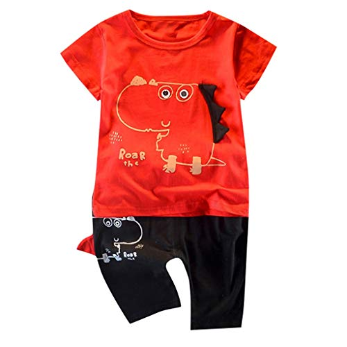 Baby Kleidung Set 2019 New Pwtchenty Babyklamotten Kleiderset Kleinkind Jungen Brief Tops Tops + Shorts Outfits Set 2 Stück - Magnolia Blumen-print