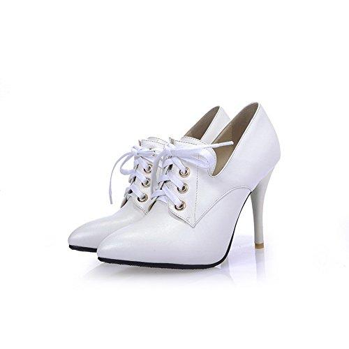 BalaMasa lacci, da donna, in pelle, per scarpe Imitated pompe White