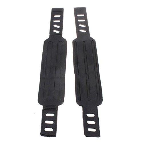 tstoff Pedalriemen Klettverschluss,Anti-Slip Pedal Toe Strap Fixed Gear Fuer Bike MTB Fahrrad BMX Fahrradpedal Schwarz ()