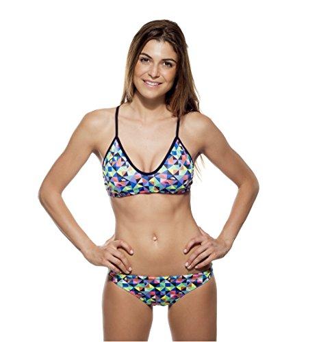 TURBO Bikini ORIGAMI (Mare) Swimkini für Schwimmerinnen - Top + Slip separat bestellbar (Slip 40 (TURBO Gr.2XL))