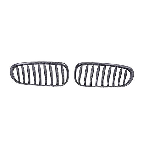 sengear 1Paire de fibre de carbone Noir Kidney Grill Grille avant pour BMW E85E86Z42003–2008Convertible/Coupé
