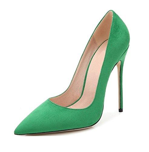 EDEFS - Scarpe col tacco donna - High Heel Pumps - Donna Tacco 12 CM - Tacchi a Spillo Donna Sexy Verde