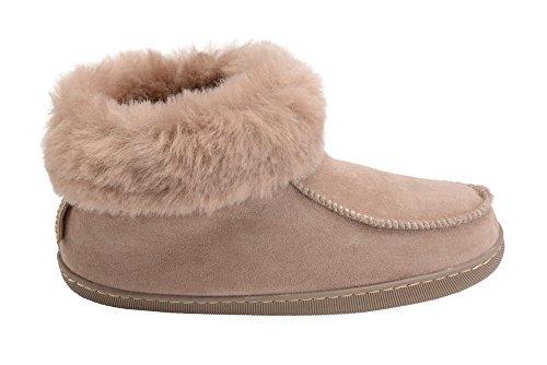 Hommes Femmes Luxe Peau De Mouton Pantoufles Chaussons Chaussures Avec Double Chaud Laine Manchette