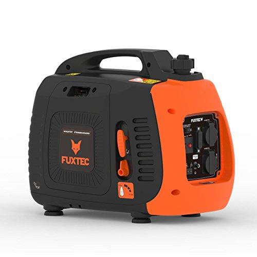 Fuxtec Inverter FX-IG12 Wechselrichter Benzin Stromerzeuger, 2,2 KW Leistung,4h Laufleistung, 3,8L Tankinhalt,4-Takt Motor - 2X 230V Anschluss geeignet für Ladegeräte,Laptops,2X USB-Anschlüsse 5V-2A - Inverter-gas-generator
