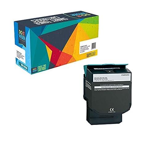 Doitwiser ® Lexmark C540 C540n C543 C543dn C544 C544dn C544dtn C544dw C544n C546dtn X543 X543dn X544 X544dn X544dtn X544dw X544n X546dtn X548de X548dte Toner Compatible Noir à Haut Rendement -