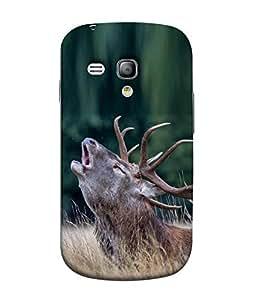 FUSON Designer Back Case Cover for Samsung Galaxy S3 Mini I8190 :: Samsung I8190 Galaxy S Iii Mini :: Samsung I8190N Galaxy S Iii Mini (Wonderfull Nature background Cute Deer)