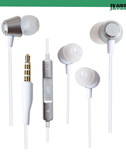 Jkobi Ear Shape Fit Volume Control Metal Earphones Headset Compatible For Panasonic Eluga Turbo -Silver  available at amazon for Rs.289
