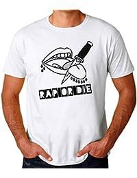 Brenos Design Rap Or Die Knife Cutting Tongue Camiseta para Hombres a5ba4860c25