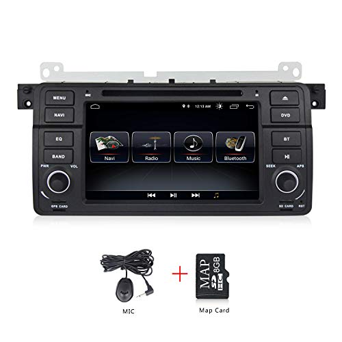 1din Android 8.1 Quad Core Auto DVD Player für BMW E39 X5 E53 mit WLAN GPS Navigation BT Canbus