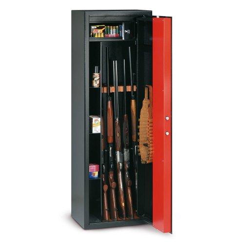 Gewehrschrank in Stahl Technomax T/505mit Tesoretto und Schlüssel 1500x 350x 30...