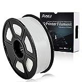 SUNLU PLA Plus Bianco, filamento PLA Plus 1,75 mm, Precisione dimensionale con odore basso +/- 0,02 mm, Filamento per stampa 3D, bobina 2,2 LBS (1 KG) (more like transparent)